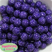 16mm Deep Purple Rhinestone 20 pack
