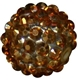 16mm Gold Rhinestone