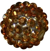 16mm Gold Metallic Rhinestone Beads