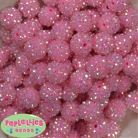 16mm Pink Rhinestone Beads 20 pack