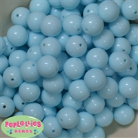Bulk 16mm Arctic Blue Solid Beads