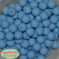 16mm Baby Blue Acrylic Bubblegum Beads