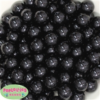 Bulk 16mm Black Solid Beads