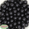 16mm Black Acrylic Bubblegum Beads