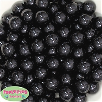 16mm Black Solid Beads