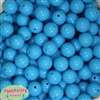 16mm Blue Acrylic Bubblegum Beads