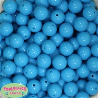 16mm Blue Solid Beads