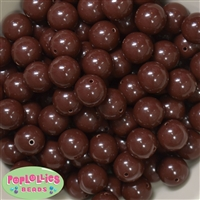 16mm Brown Acrylic Bubblegum Beads