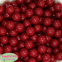 Bulk 16mm Burgundy Solid Beads