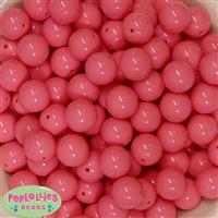16mm Coral Acrylic Bubblegum Beads