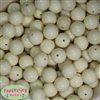 16mm Cream Solid Beads