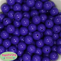 16mm Dark Purple Acrylic Bubblegum Beads