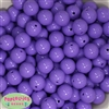 16mm Lavender Acrylic Bubblegum Beads