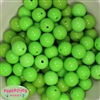 16mm Lime Green Acrylic Bubblegum Beads Bulk
