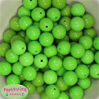 16mm Lime Green Acrylic Bubblegum Beads