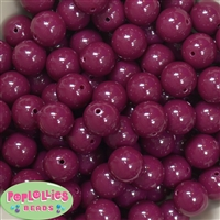 16mm Maroon Solid Beads