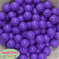 16mm Medium Purple Solid Beads