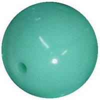 16mm Mint Acrylic Bubblegum Beads