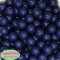 Bulk 16mm Navy Blue Solid Beads