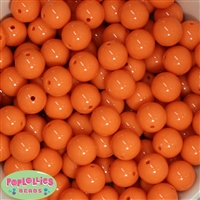 16mm Orange Acrylic Bubblegum Beads