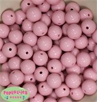 16mm Pale Pink Acrylic Bubblegum Beads Bulk