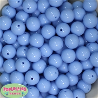 16mm Periwinkle Blue Solid Beads