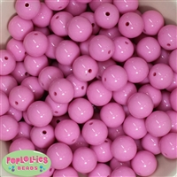 16mm Pink Solid Beads