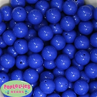 16mm Royal Blue Solid Beads Bulk