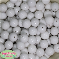 16mm White Solid Beads Bulk