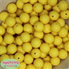 16mm Yellow Acrylic Bubblegum Beads  Bulk
