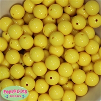 16mm Yellow Solid Beads Bulk