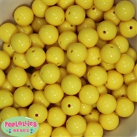 16mm Yellow Acrylic Bubblegum Beads