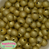 16mm Gold Stardust Bubblegum Beads