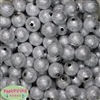 16mm Silver Stardust Bubblegum Beads