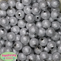 16mm Silver Stardust Beads