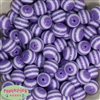 16mm Lavender Stripe Resin Bubblegum Beads