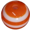 16mm Orange Stripe Resin Bubblegum Beads
