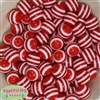 16mm Red Stripe Resin Bubblegum Beads