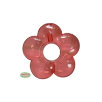 20mm Clear Red Acrylic Flower Bead add a center