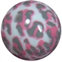 20mm Pink Camo Print Bubblegum Beads