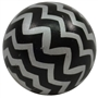 20mm Black Chevron Bubblegum Bead