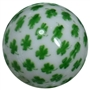 20mm Shamrock Print Solid Bubblegum Bead