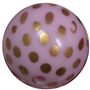 20mm Pink Dot Bubblegum Bead