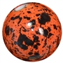 20mm Orange Splatter Style Acrylic Bubblegum Bead