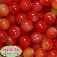 20mm Cherry Tomato Bubblegum Beads