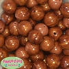 20mm Wood Style Acrylic Bubblegum Bead