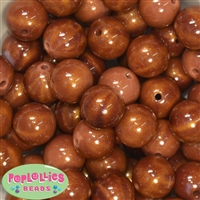 20mm Wood Look Bubblegum Beads