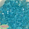 22mm Clear Blue Abacus Beads