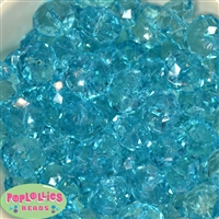 22mm Clear Blue Abacus Bubblegum Beads