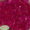 22mm Hot Pink Abacus Beads